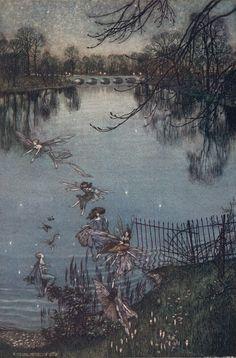 'Peter Pan in Kensington Gardens' illustrations by Arthur Rackham