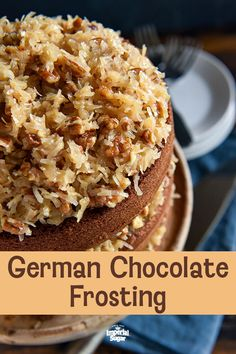 Disney's German Chocolate Cake: this famous throwback recipe, for a soft chocolate cake with coconut pecan frosting, was served at Disney World in the Calling all my German Chocolate Cake fans, this throwback recipe German Chocolate Cake Frosting, Chocolate Frosting Recipes, Homemade Chocolate, Recipe For Coconut Pecan German Chocolate Pie, Hand Pies, Cake Recipes, Dessert Recipes, Pastry Recipes, Coconut Pecan Frosting