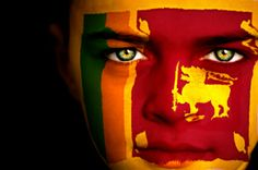 Portrait of a boy with the flag of Sri Lanka painted on his face Sri Lanka Flag, Earth Flag, Flag Face, Flag Vector, Flags Of The World, Beautiful Islands, Asia Travel, Ancient History, Dashboards