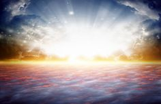 Photo about Peaceful background - beautiful sunrise, bright sun beam, heaven. Image of beautiful, mystical, heaven - 28438634 Peaceful Backgrounds, Angel Spirit, Great Awakening, Divine Light, Archangel Michael, Beautiful Sunrise, Spirit Guides, Spiritual Life, Deities