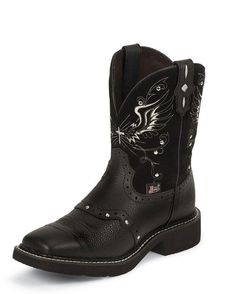 Women's Black Deeercow Cowhide Boot - L9977   $80.95