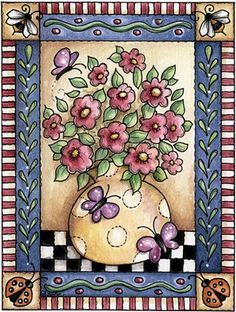 Borboleta Azul: Ilustrações de Laurie Furnell/Flores
