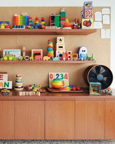 """I want colorful """"smart"""" toys in my craft space so that I can entertain the kids in my space while I work, and still have it look aesthetically pleasing!"""