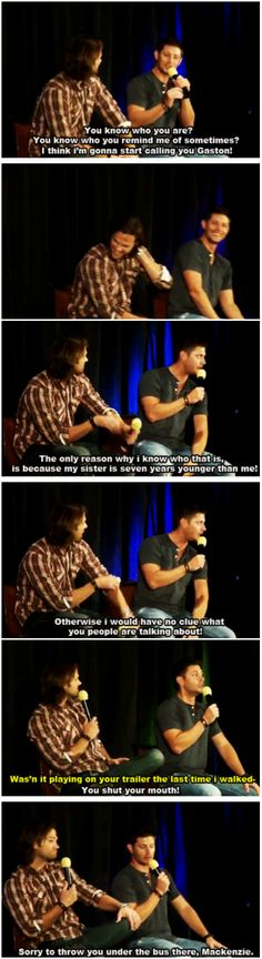 [gifset] If you two were Disney Prince or Princess who would you be? #Jensen #Jared