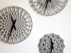 Para Clocks Project  by LeeLABS. Parametric clocks you help design, gets produced in concrete...Now on Kickstarter until May 4, 2012