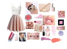 """""""Girly girl life"""" by stylebylexie13 ❤ liked on Polyvore featuring beauty, Chicwish, Converse, Forever 21, Elie Saab, MAC Cosmetics, Essie, Maybelline, Clarins and Bobbi Brown Cosmetics"""