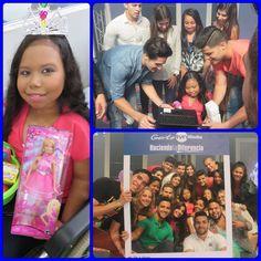 Mónica, 13 años, Artritis Reumatoidea Juvenil, su deseo de tener una computadora fue cumplido por sus nuevos amigos del programa de televisión A Todo o Nada TVN ese día ella fue la invitada especial en su show favorito.