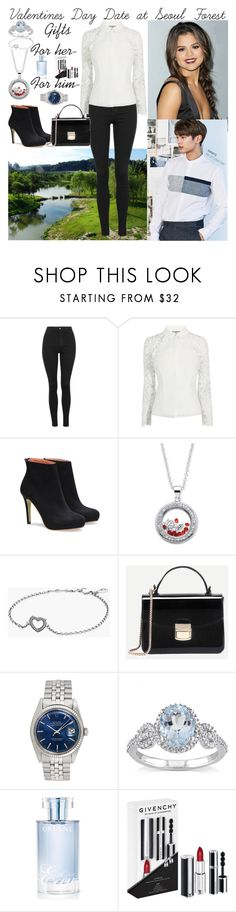 """""""Valentines Day Date at Seoul Forest with Minho"""" by mxrlvne ❤ liked on Polyvore featuring Topshop, Pandora, Rolex, Miadora, Orlane and Givenchy"""