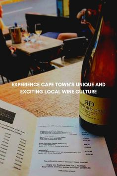Calling all local and global wine lovers! It's time to experience Cape Town's unique and exciting local wine culture like you never have before. By visiting one of its trendy wine bars of course! Besides the fact that the Western Cape is home to the largest wine producing region in Africa. Boasting a variety of world-renowned wine estates, top-tier wineries, exceptional wine and superb food and wine pairing experiences. Beer Bottle, Whiskey Bottle, Wine Tasting Room, Wine Bars, Wineries, Cape Town, Wine Recipes, Africa, Lovers