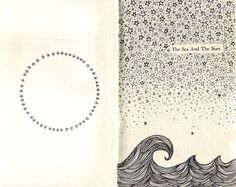 bullet journal waves ship and flower - Google Search