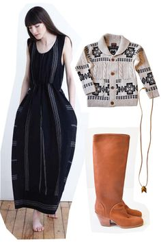 ace and jig field dress, rachel comey carrier boot. pendleton harding cardigan and iacoli and mcallister necklace out of stock.