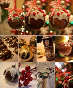DIY Chocolate Christmas Balls