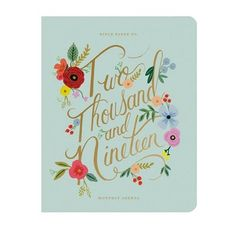 This monthly agenda book from Rifle Paper Co. is quite a stunner. Adorning the front cover are pretty florals against a soft blue backdrop and the year in bold, gold foil script. Open the planner and behold a gorgeous illustration alive with even more flo Agenda Planner, Monthly Planner, Agenda Book, Monthly Calendars, Valentine Day Gifts, Valentines, Paper Source, Rifle Paper Co, Important Dates