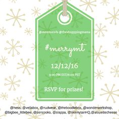 Holiday Twitter Chat 12/12 #MerryMT