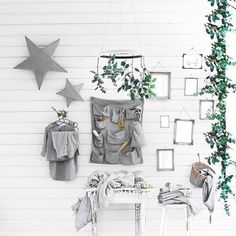 #inspiration  Dedicated to those who love #monochrome #minimalistic interior..and our silver grey as well 😉 #numero74 #silvergreymood #simplicity #starlantern #n74clothing #wallpocket #babycare #nursery #nurseryinspo #nurserydecor #babydecor #babyroom #babyinspo #babynursery #baby #changingpad #babytowel #babybath #basket