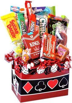 Casino Nights Nostalgic Candy Basket