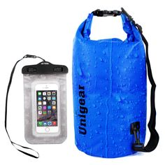Dry Bag Sack, Waterproof Floating Dry Gear Bags for Boating, Kayaking, Fishing, Rafting, Swimming, Camping, Canoeing and Snowboarding with Free Bonus Universal Waterproof Phone Case Bag