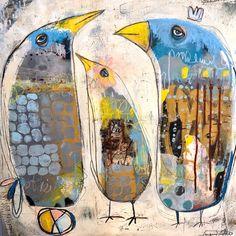 Art Journaling, Art Brut, Art Plastique, Art Sketchbook, Bird Art, Altered Art, Collage Art, Art Lessons, Watercolor Art