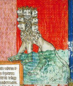 the Beast    Apocalypse, France 1220-1270    Toulouse, Bibliothèque municipale, Ms 815, fol. 28r