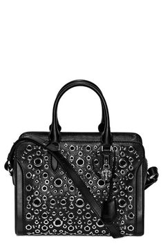 Alexander McQueen 'Small Padlock' Rivet Studded Leather Satchel available at #Nordstrom