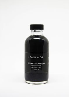 Our Activated Charcoal Toner is formulated to help detox, balance and  activate healing of the skin. Our AC products are fantastic for acne-prone  skin and reducing oiliness without being harsh.  Activated Charcoal: balances pH, absorbs toxins  Aloe Vera Juice: reduces skin irritation + moistu