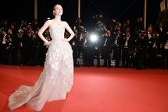 Pin for Later: Every Single Look From the Cannes Film Festival You Just Can't Miss  For The Neon Demon's premiere, Elle Fanning selected a gown from Zuhair Murad, embellishing her look with Tiffany & Co. jewels.