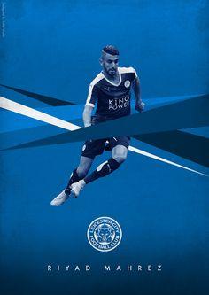 BPL Star Players 2015/16 on Behance - Riyad Mahrez - Leicester City