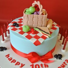 Picnic themed party cake