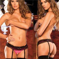 Crotchless Mesh Ruffle Thong $14.95 but You can get this or almost any other single item for 50% OFF + Free Shipping + DVDS and Mystery GIFT when you use the code PINIT @ checkout at www.AdamAndEve.com.