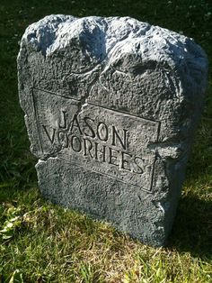 JASON VOORHEES Friday The 13th Part 6 Tombstone replica