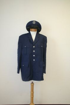 1970s US Air Force Uniform  Jacket Hats  by TheBeeKeeperVintage, $25.00 - SOLD