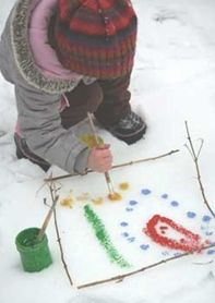 Måla på snö