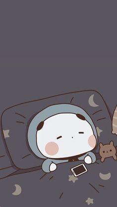 #wallpaper Cute Panda Wallpaper, Cute Pastel Wallpaper, Anime Scenery Wallpaper, Bear Wallpaper, Cute Patterns Wallpaper, Emoji Wallpaper, Kawaii Wallpaper, Cute Wallpaper Backgrounds, Wallpaper Iphone Cute