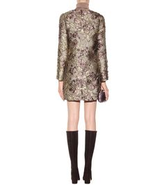 mytheresa.com - Metallic Cloqué Jacquard Dress - Dolce & Gabbana * mytheresa.com - Luxury Fashion for Women / Designer clothing, shoes, bags