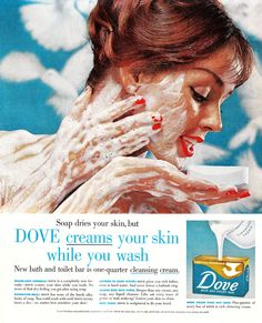 vintage noxzema advertising | Yeah, That's Right. I'm Washing My Face With Dove Soap.