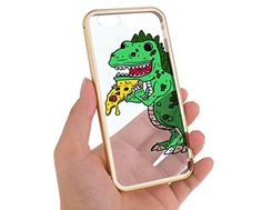 "Gold Iphone 6 Case Cute Dinosaur Pizza T Rex Aluminum Bumper 4.7"" Cover Skin Mobile Phone Accessory Girls Teens MonoThings http://www.amazon.com/dp/B00YO2HTKE/ref=cm_sw_r_pi_dp_p7pJvb1X29KR3"