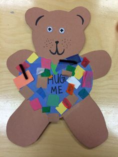 These turned out super cute  Teddy Bears for Valentines day Preschool arts and crafts