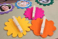 Attach clothespins with hot glue