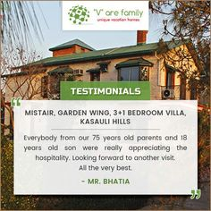 Thanks alot Mr.Bhatia for sharing such a wonderful comments. We look forward to meeting you again ! #Varefamily - offering 'home away from home experience'. #Happycustomer #Customerreview #VarefamilyReviews #Varefamily