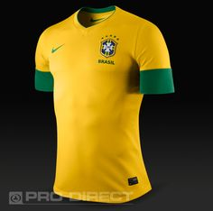 2e8f0f4318e Football Shirts - Nike CBF Brazil Short Sleeve Home Authentic Jersey -  Replica Clothing - Varsity
