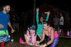Glitter bomb skydiver partys