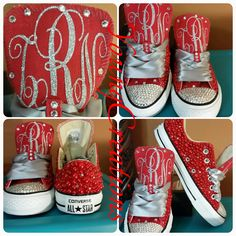 Full Bling Bridal Converse- Wedding Converse- Bling & Pearls Custom Converse Sneakers- Personalized Chuck Taylors- AllStar Converse Sneakers by DivineUnlimited on Etsy Bling Converse, Bling Shoes, Glitter Shoes, Prom Shoes, Wedding Shoes, Bridal Converse, Custom Converse, Chucks Shoes, Converse Sneakers