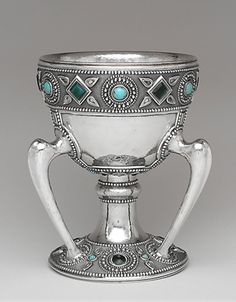 Louis Comfort Tiffany cup - c. 1905 - Tiffany Studios - Silver, glass - The Metropolitan Museum of Art - Art Nouveau