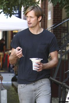 Only Alexander Skarsgard could make eating a blueberry look this amazing.