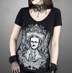 Camiseta Chica MC Edgar Allan Poe