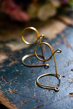 Brass Table Number Holders Wedding Reception by HomesAndWeddings, $20.00