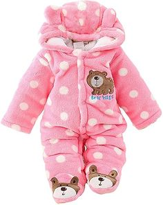 6bea49e1f8 Amazon.com  Gaorui Newborn Baby Jumpsuit Outfit Hoody Coat Winter Infant  Rompers Toddler Clothing