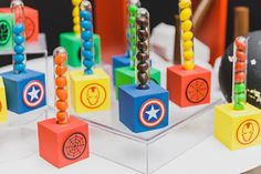 Avengers Birthday, Superhero Birthday Party, Birthday Party Themes, Avengers Party Decorations, Birthday Decorations, Frozen Birthday Theme, Baby Party, Party Time, Lucca