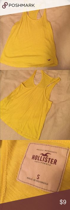 Yellow hollister tank Yellow tank. Hollister. Small. Hollister Tops Tank Tops