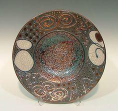 John Turner - raku pottery bowl